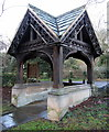 NY9166 : Lych Gate, Church of St Michael, Warden by Andrew Curtis