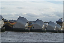 TQ4179 : Close-up of the Thames Barrier from Thames Barrier Park by Robert Lamb