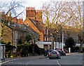 TM1545 : Winter sunlight, Norwich Road by John Sutton