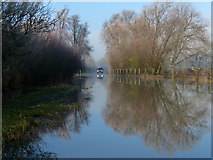 SK5815 : Flooding along Slash Lane by Mat Fascione