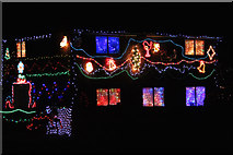 TQ8115 : Westfield Christmas lights by Oast House Archive