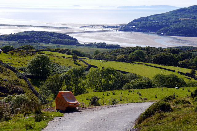 View towards Barmouth from the road between Arthog and Cregennen Lakes