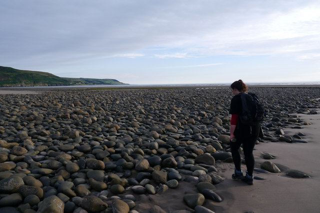 Rocks on the beach at South Bank near Fairbourne
