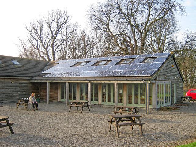 Solar Panels at Syston Park Farm Shop