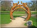 SK6464 : The Dragon Gateway at Rufford Park by Trevor Rickard