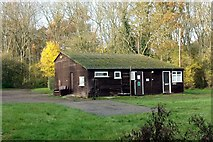 TF0820 : Forester's hut in Bourne Wood, Lincolnshire by Rex Needle