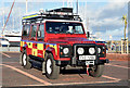 J5082 : Fire Brigade Land Rover, Bangor (January 2015) by Albert Bridge
