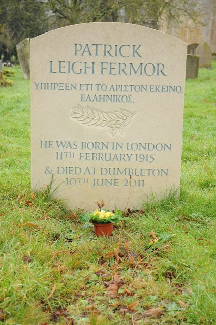 Grave of Patrick Leigh Fermor
