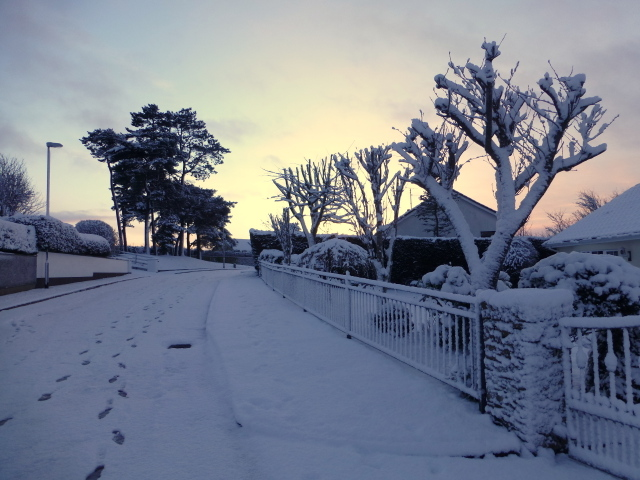 Early morning snow, Omagh