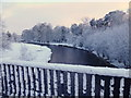 H4772 : Snow along the Camowen River, Campsie / Cranny by Kenneth  Allen