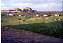 HZ1970 : The village and Sheep Rock from Malcolm's Head by Alan Reid