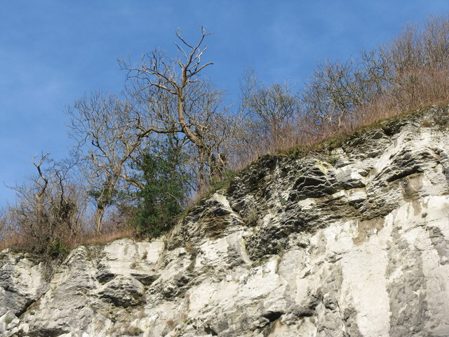 Cliffs above the A623 at Stoney Middleton