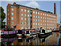 SJ9273 : Marina and the Hovis Mill, Macclesfield by Roger  Kidd