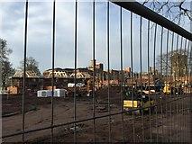 SJ9223 : St George's Hospital, Stafford: building site by Jonathan Hutchins