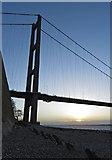 TA0225 : Humber Bridge north tower by Paul Harrop