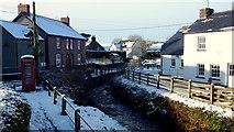 SO1327 : Village centre, Llangors by Jonathan Billinger