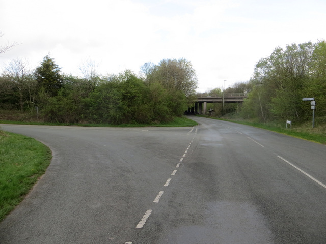 Wervin Road junction and the M53