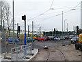 SK5438 : University Boulevard tramway crossing by Alan Murray-Rust