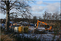NJ3558 : Building Site by Anne Burgess