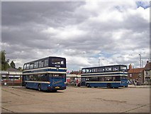 TF0920 : The bus station at Bourne, Lincolnshire by Rex Needle
