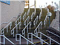 NZ2464 : Steps at Gallowgate West Corner, St James' Park by Andrew Curtis