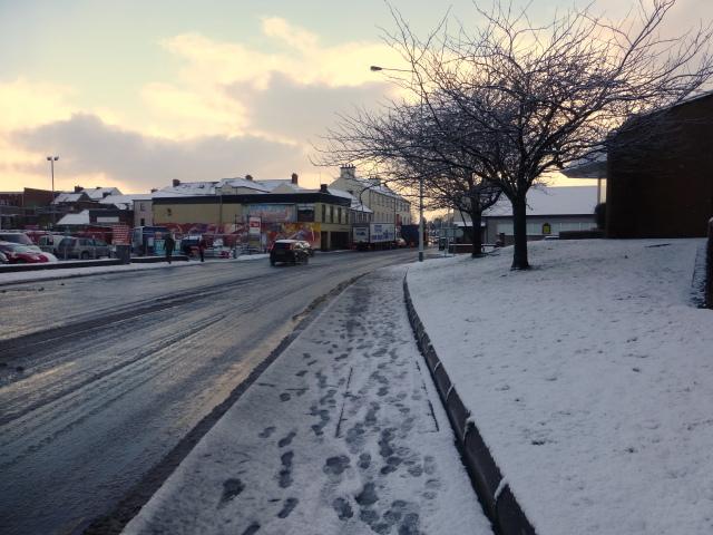 Wintry along Dublin Road, Omagh