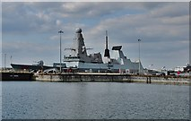 SU6200 : HMS Dragon  from Portsmouth Historic Dockyard by Michael Garlick