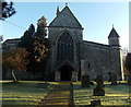 ST9429 : Entrance path to St John the Baptist church in Tisbury by Jaggery