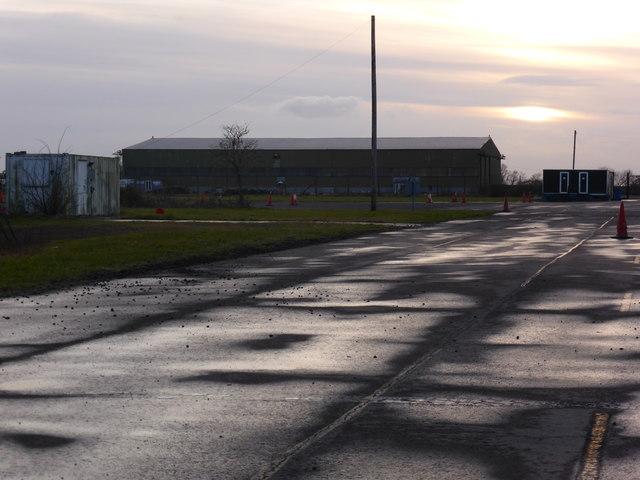 Pershore Airfield at dusk