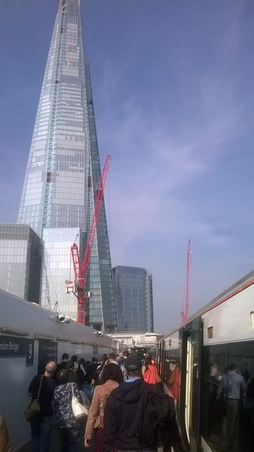 Arrival at London Bridge, September 2014