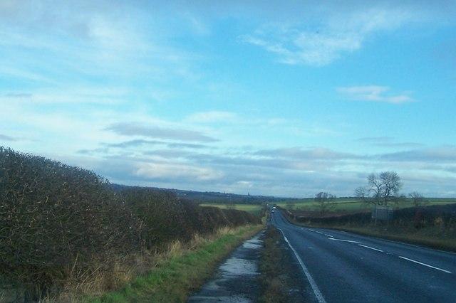 The A698 towards Berwick