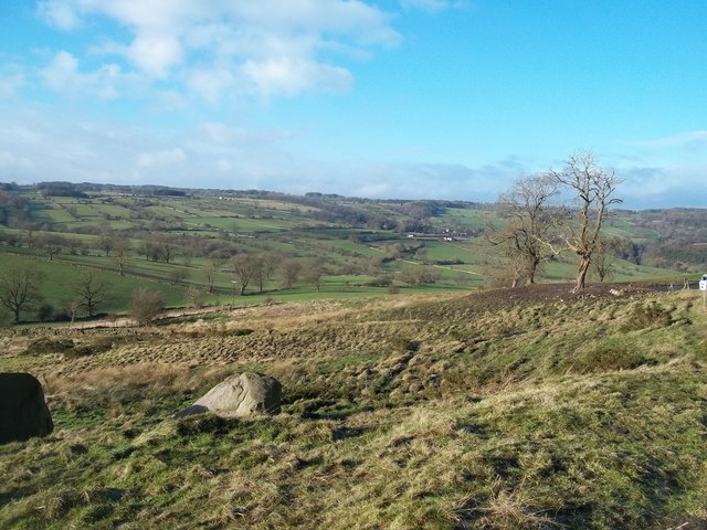 Boulders seen from Mawstone Lane