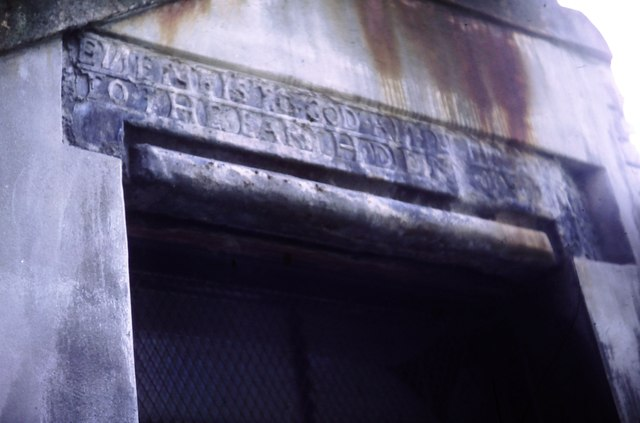 Carved lintel, Bailie Fyfe's Close, High Street (1982)