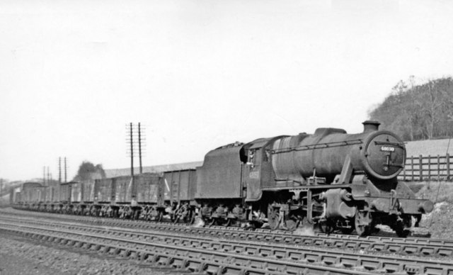 Up freight at Chiltern Green, 1950