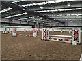 SJ6453 : Reaseheath Equestrian Centre: indoor arena by Jonathan Hutchins