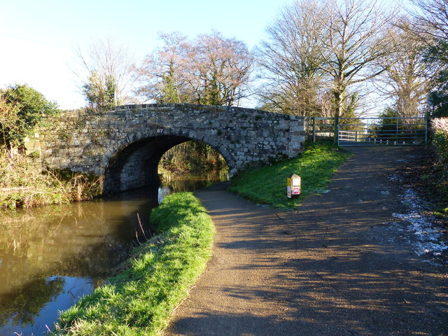 """""""Bridge 67"""" on the Monmouthshire and Brecon Canal"""