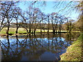 SO3104 : Monmouthshire and Brecon Canal - turning area, with reflections by Ruth Sharville