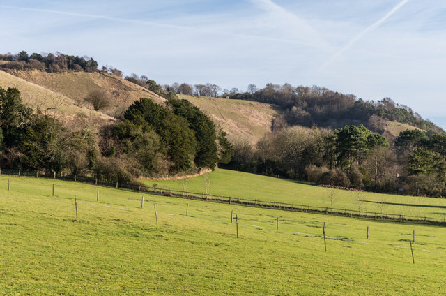Below Colley Hill