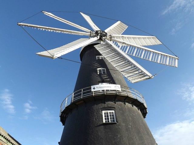 The eight sailed windmill at Heckington