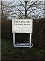 TM2866 : Dennington Village Hall signs by Adrian Cable