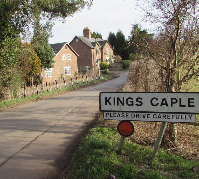 Western boundary of Kings Caple, Herefordshire