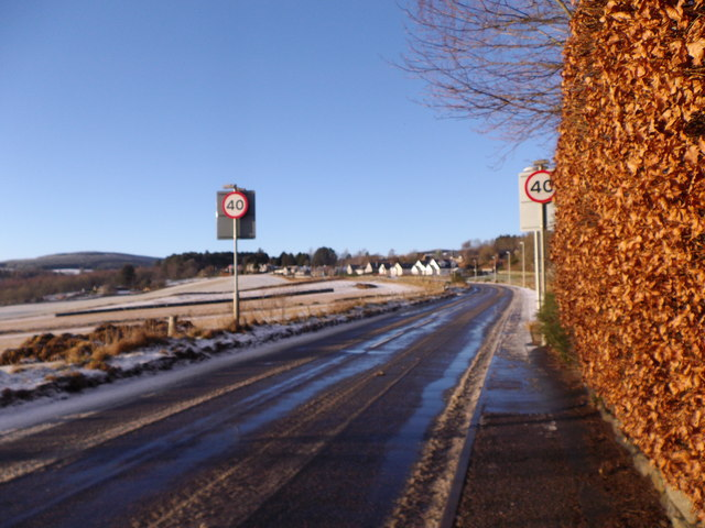 A980, exit NNW from Torphins