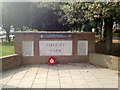 SP1179 : Commemorations, Stratford Road entrance to Shirley Park by Robin Stott