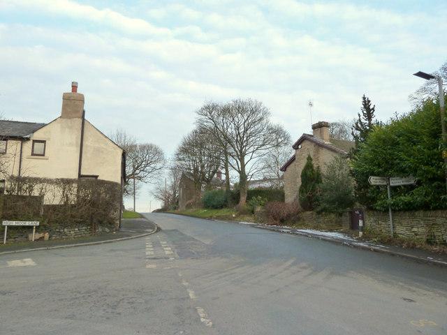 High Moor Lane junction at Robin Hood, Wrightington