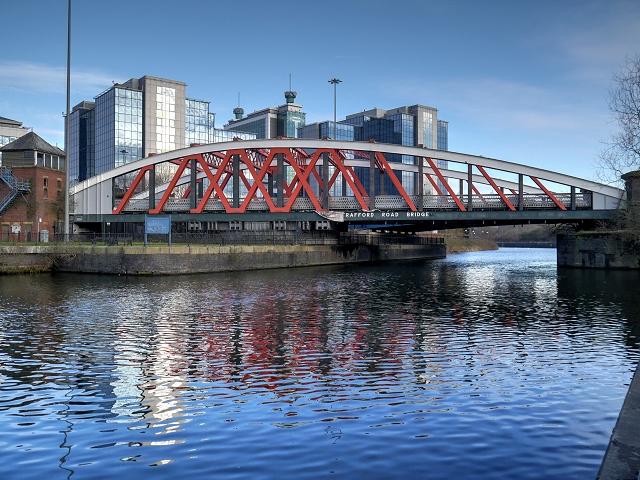 Manchester Ship Canal, Trafford Road Swing Bridge