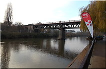SO8454 : Railway bridge over the Severn, Worcester by Jaggery