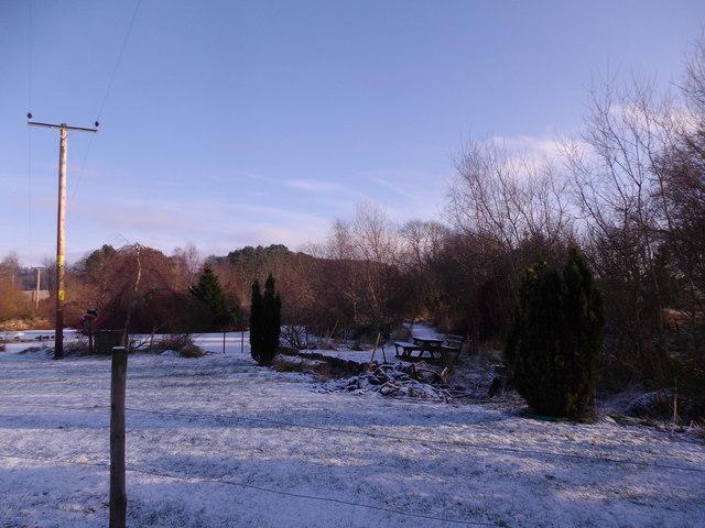 Frozen pond at Milltown of Craigmyle