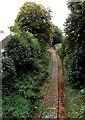 SJ2929 : Single track railway near Middleton Road, Oswestry by Jaggery