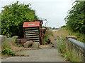 TQ0380 : Old Grimme harvester on bridge 4 by Robin Webster