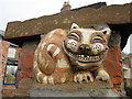 SJ4065 : Cheshire Cat on Chester City Walls by Jeff Buck